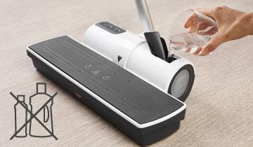 Moppy White soluzione per la pulizia con vapore e spazzolone senza filo - con Moppy pulire i pavimenti non sarà più la stessa cosa