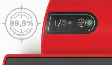 Lavapavimenti Polti Moppy Red - rimuove ed elimina il 99.9% di germi e batteri